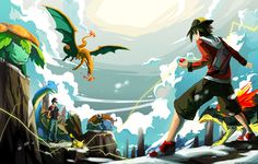 Versus Red (Battle on Mt. Silver) by Serain.deviantart.com