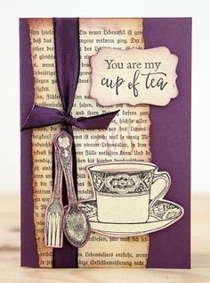 Card by Rachel Greig using Darkroom Door Cup Of Tea Stamp Set
