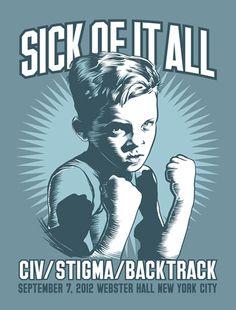 GigPosters.com - Sick Of It All - Civ - Stigma - Backtrack