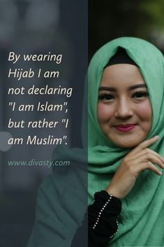 Divasty -Modern & Modest Islamic Clothing For Women! At Divasty, we support modesty, comfort and contemporary Islamic Fashion attires for today's women. Hadith Quotes, Quran Quotes, Islamic Quotes, Hijabi Girl, Girl Hijab, Easy To Love, How To Show Love, Hijab Quotes, Islam Women