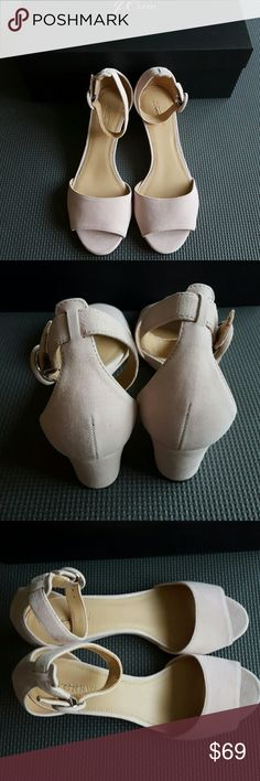 """J.Crew Laila Wedges in Suede Suede upper. Leather lining. 17/8"""" heel. Brand new, comes with box! J. Crew Shoes Wedges"""
