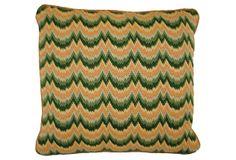 Wavy Bargello Pillow on OneKingsLane.com  Gmuz taught me to needlepoint