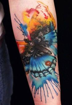 Good example of the use of watercolor while keeping the art of tattooing in mind