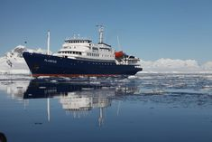 Oceanwide Expeditions takes you closer to the heart of the Arctic and Antarctica. This picture of our vessel m/v Plancius was taken in Antarctica during an amazing cruise.