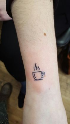 Coffee cup by daisylutattoo www.broklyn.bodyartsoul.com