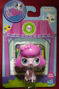 Littlest Pet Shop Pink Poodle Dog # 3272 : New in Package : Hasbro : LPS Hub TV…