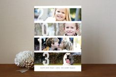 Stacked Photos New Year's Photo Cards by Amber Barkley at minted.com