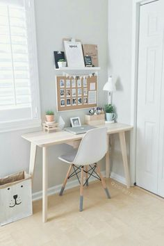 8 Endless ideas: Minimalist Home Small Tiny House minimalist bedroom neutral benches.Minimalist Home Colour Woods minimalist bedroom color shelves.Minimalist Bedroom How To Beds. Home Office Design, Home Office Decor, Office Designs, Decorating Office Desks, Bed Designs, Corner Designs, At Home Decor, Creative Office Decor, Table Designs