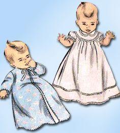1950s Vintage Advance Sewing Pattern 5879 Sweet Infant Baby Layette Set ORIG
