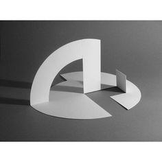 """simple folds. Title unknown. Jorge Oteiza. Folded sheet metal.  #metal #sculpture #origami #jorgeoteiza #sheetmetal #folding #minimal #architectural #blackandwhite #white #prototype #simplicity #basic #precision #pleatfarm"" Photo taken by @coolcalmquiet on Instagram, pinned via the InstaPin iOS App! http://www.instapinapp.com (03/22/2015)"