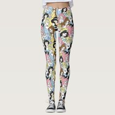 You should be comfortable walking around during your Disney adventure. You'll be more than comfortable in these Disney princess leggings: you'll be stylish as well! Disney Leggings, Cute Leggings, Best Leggings, Printed Leggings, Women's Leggings, Pattern Leggings, Cute Pattern, Disney Style, Leggings Fashion