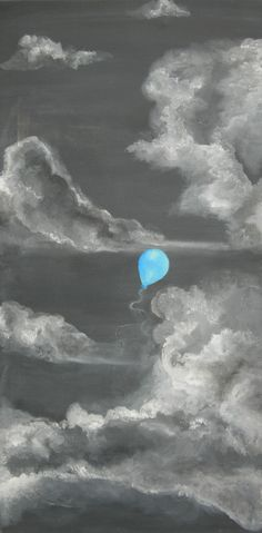 balloon | acrylic and pastel on canvas | Megan Abra | Flickr