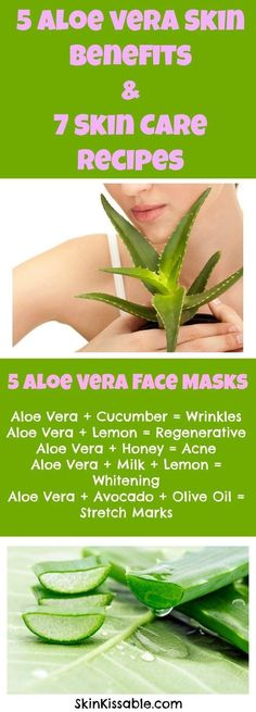 How good is aloe vera for the skin and for the face? Discover its benefits, uses and 7 skin care homemade recipes for pimples, acne, hair, stretch marks, age spots and aging skin.