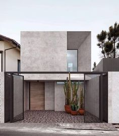 New House Luxury Exterior Facades 25 Ideas Minimalist Architecture, Amazing Architecture, Interior Architecture, Modern Residential Architecture, Facade Design, Exterior Design, Modern Exterior, Facade House, House Facades