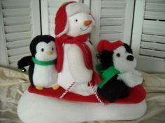 Hallmark's Jingle Pals Snowman Dog Penguin 2007 Shakes Wigggles Sings Animated