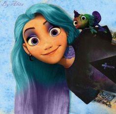 Rapunzel as Disney punk ? Ariel Disney, Emo Disney, Disney Fan Art, Disney Love, Disney Magic, Hipster Disney, Disney Tangled, Equestria Girls, Goth Disney Princesses