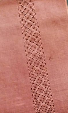 Bordados Pearl Embroidery, Hardanger Embroidery, Hand Embroidery, Drawn Thread, Rococo, Pearls, Design, Embroidered Towels, Embroidery Stitches