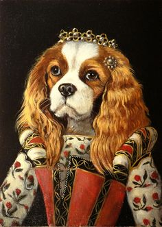 """Princessa"" by Olivia Beaumont. (Cavalier King Charles Spaniel) Info 5x7"" (Standard) Print: Kodak professional Endura paper Finish: Matte Packaging: Stiff mailer to prevent damage"
