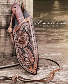 Leather Holster, Leather Tooling, Leather Wallet, Leather Knife Sheath Pattern, Knife Holster, Leather Working Patterns, Hand Forged Knife, Custom Knives, Leather Projects