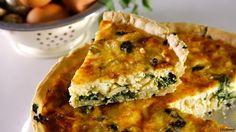 Receita de Quiche de bacalhau com espinafres. Descubra como cozinhar Quiche de bacalhau com espinafres de maneira prática e deliciosa!