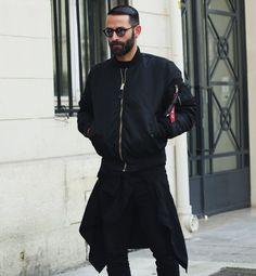 MA-1黒ブラック,メンズファッションコーデ着こなし