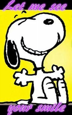 Snoopy smiles! !