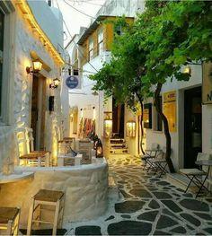 An alley in Naxos island, Greece