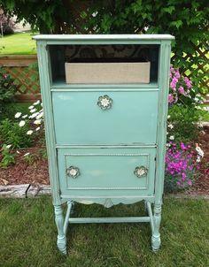 {createinspire}: Radio Cabinet Revamp Covington Blue by BM