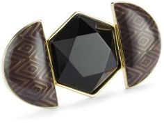 House of Harlow 1960 Gold-Plated Hexagon Ring House of Harlow 1960. $55.00. Keep Away From Moisture. Made in China. 14k yellow gold-plated. Smokey epoxy Made in CN. Smokey epoxy