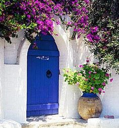 My house is getting primed as I write this and it is time to find the perfect blue paint for the front door.  I am on the hunt for the pe...
