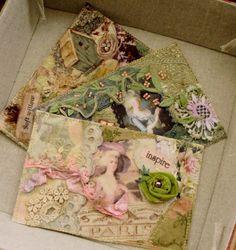Postcards - added fabric