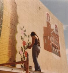 """itzelaalejandra: """" Ernestina Lopez, painting the roses in the mural 1970 South Central """" Amor Chicano, Chicano Love, Chicano Art, Chicano Studies, Aesthetic Indie, Aesthetic Girl, Hopeless Fountain Kingdom, Minimalist Street Style, Minimalist Fashion"""