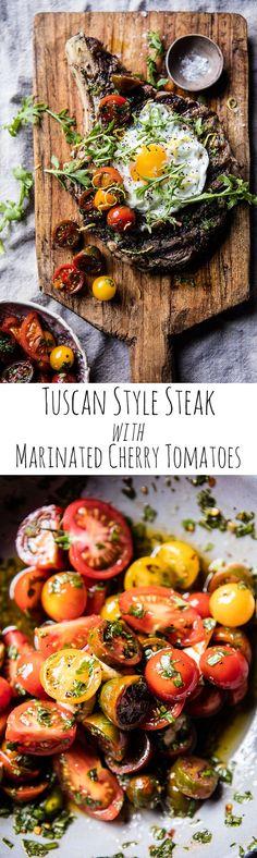 Tuscan Steak with Marinated Cherry Tomatoes | halfbakedharvest.com @hbharvest