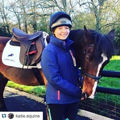 A lovely photo of Junior rider Katie Ruben in her #harryhall Beswick jacket #Repost @katie.equine with @repostapp. ・・・ Posing our #harryhall clothing! It's the best Pepsi loves his Numnuh ✌️ - Sponsored by #harryhall