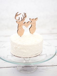 This is one of my favorites on Z Create Design: Deer and Buckhead Wedding Cake Topper