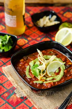 Loaded Enchilada Soup with Creamy Tomatillo Sauce by Yack_Attack, via Flickr