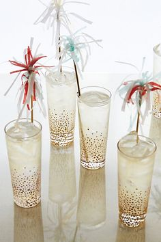 Champagne Bubbles Highball Glasses #anthroregistry