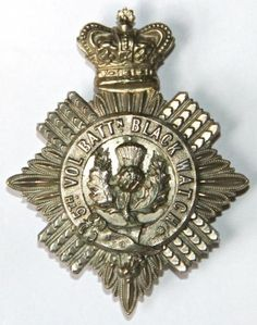 5th BATTALION BLACK WATCH OFFICERS CROSS BELT BADGE