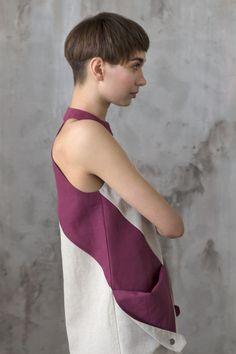 """Купить Платье с карманами в стиле """"color blocking"""" / Летнее платье - платье с карманами"""