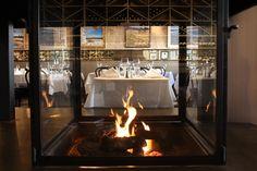 Los Olivos Cafe, Los Olivos CA, through interior fireplace.