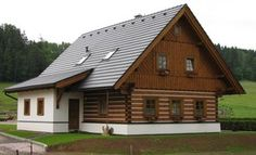 Fotogalerie realizovaných roubených staveb - roubenkyroubal.cz Cottage Style Homes, Traditional House, Home Fashion, Tiny House, Studios, Country, House Styles, Cabins, Cottages
