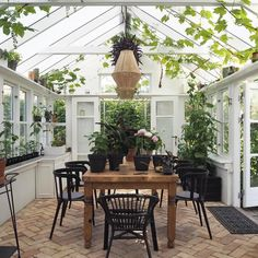 If one looks the description of a conservatory, it will tell you that it is a greenhouse. Cheap Greenhouse, Backyard Greenhouse, Greenhouse Ideas, Greenhouse Wedding, Homemade Greenhouse, Portable Greenhouse, Outdoor Rooms, Outdoor Living, Outdoor Decor