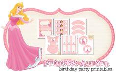 Imprimible gratis de Aurora - Decoración para fiestas de princesas | DEF Deco - Decorar en familia