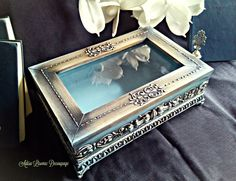 old jewelry box vintage baroque antique home decor Adisa Lisovac Decoupage