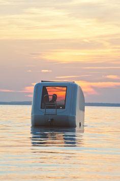 Sealander caravan. It turns into a boat! I want one.