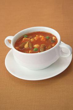 90 Calories - 1 cup lowfat, low-sodium vegetable soup