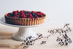 Torta de Frutas Vermelhas e Creme de Baunilha