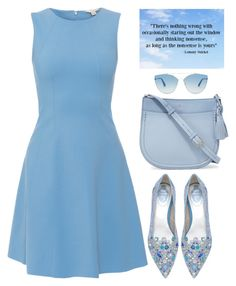 Daydreaming in blue by oliverab on Polyvore featuring SEVENTY, René Caovilla, Kate Spade, Christian Dior, Blue and babyblue