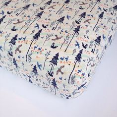 READY TO SHIP Fitted Crib Sheet Floral Baby Bedding Botanical Crib Sheet  Quick Ship  Babiease Baby Linens