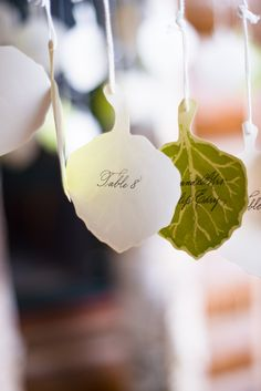 Cute table idea    Read more - http://www.stylemepretty.com/2013/06/18/aspen-wedding-from-kate-holstein-bluebird-productions/